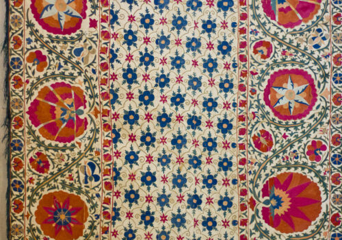 Bukhara Suzani textile with Pomegranate pattern