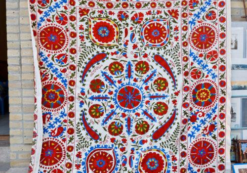 Bukhara Suzani textile. Credit: Sergio Tittarini, CC-BY-NC